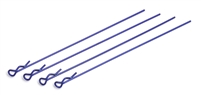Associated Body Clips-Long, Metallic Blue (4)