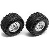 Associated RC18MT Mounted Wheels And Tires With Inserts (2)