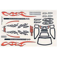 Associated RC18T Body Decal Sheet And Window Mask