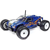 Associated RC18T Body, Painted Blue With Decals