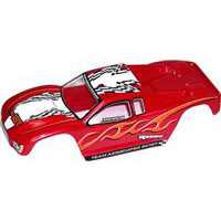 Associated RC18T Body, Painted Red With Decals