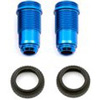 Associated Rival Mini FT Front Threaded Shock Bodies-Blue Aluminum (2)