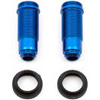 Associated Rival Mini FT Rear Threaded Shock Bodies-Blue Aluminum (2)