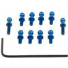 Associated Rival Mini/RC18T2 FT Ball Studs, blue aluminum (10)