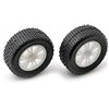 Associated RC18B2/18T/18B Front Spoked Rims, White With Tires (2)
