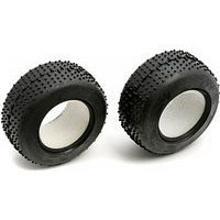 Associated RC18B2/18T/18B Front Mini-Pin Tires With Foam Inserts (2)