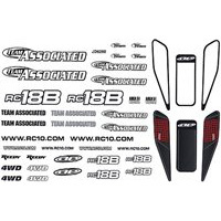 Associated RC18B Decal Sheet And Window Masks