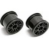 Associated RC18T2/18B2 Rear Spoked Rims, Black (2)