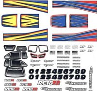 Associated RC18T2 Decal Set
