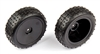 Associated Reflex 14B/14T Front Narrow Mini Pin Tires, mounted on black rims (2)