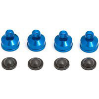 Associated Rival/MGT/MGT 8.0 Shock Caps, Blue Aluminum (4)