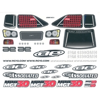 Associated Mini-MGT Decal Sheet