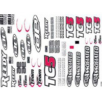 Associated TC5 Decal Sheet