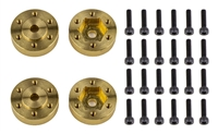 Associated Enduro 12mm Wheel Hex Adapters, brass
