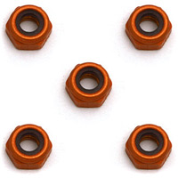 Associated 4-40 Mini Locknuts, aluminum (5)