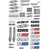 Associated 12R5 Decal Sheet