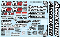 Associated RC12R6 Decal Sheet