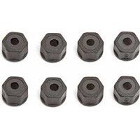 Associated Nylon Locknuts, Black (8)