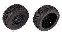 Associated Trophy Rat Multi-Terrain Tires on Black Method Rims (2)