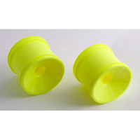 Associated RC10GT2 Front Dish Rims, yellow (2)
