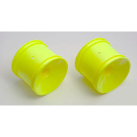 Associated RC10GT2 Rear Dish Rims, Yellow (2)