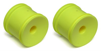 Associated T4.2/T5M 12mm Hex Dish Rims, Yellow, Fits Front or Rear (2)