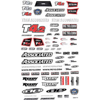 Associated RC10 T4.2 Decal Sheet