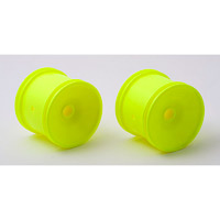 Associated RC10GT2 Posi-Lock Quick-Change Rear Rims, Yellow (2)