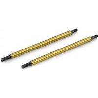 Associated RC8/RC8RS Rear Gold Shock Shafts, 38mm Stroke (2)