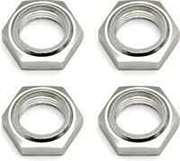 Associated Rival/SC8 Nyloc Wheel Nuts, Silver (4)