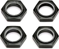 Associated SC8 Nyloc Wheel Nuts, black (4)