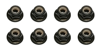 Associated M4 Knurled Flanged Locknuts (8)