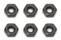 Associated RC10B5/RC10B5M Team M3 Nuts, black (6)