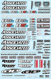 Associated RC10B5M Team Decal Sheet