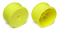 Associated 61mm Rear Buggy Rims with 12mm Hex, yellow (2)