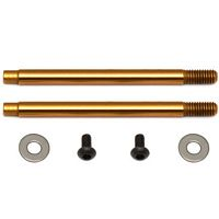 Associated B5/B44 V2 Front Shock Shafts, TiNi Coated, 3 x 21mm (2)