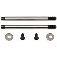Associated B5/B44 V2 Front Shock Shaft, Chrome Coated, 3 x 21mm