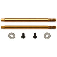 Associated B5/T5/B44 V2 Shock Shafts-TiN Coated, 3 x 27.5mm (2)