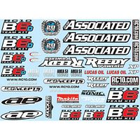 Associated RC10B6 Decal Sheet