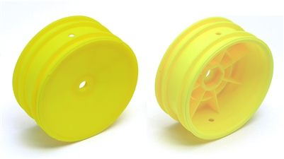 Associated B4.1/B44.1 Front Buggy Rims with 12mm hex, yellow (2)