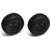 Associated SC10 Front Tires/Rims Combo, Black (2)