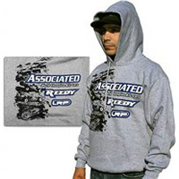Associated Stencil Hooded Sweatshirt, Medium-Gray