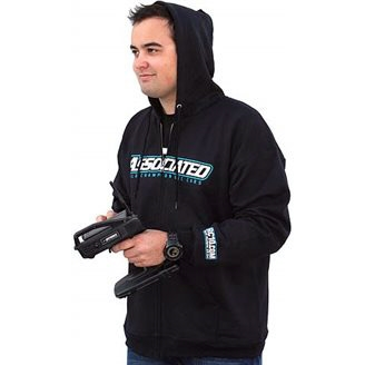 Associated Zip Hoodie-Black, X-Large