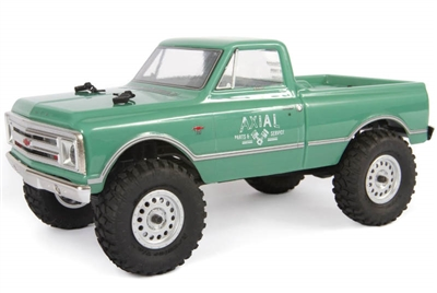 Axial SCX24 1967 C10 1/24th RTR Rock Crawler with green body