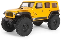 Axial SCX24 Jeep JLU CRC 1/24th RTR Rock Crawler with yellow body