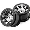 "Axial Wraith 2.2"" Raceline Renegade"" Rims, Chrome/Black (2)"