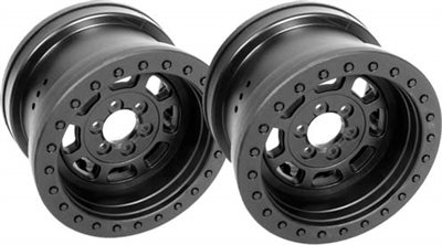 "Axial Trail Ready HD 2.2"" Beadlock"" IDF Rims, Black (2)"