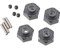 Axial AX10 Scorpion Cast Aluminum Black Hex Hubs (4)