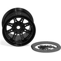 Axial 8 Spoke 40 Size Bead Lock Rims, Black (2)