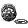 Axial 8 Spoke 40 Size Bead Lock Rims, Black Chrome (2)
